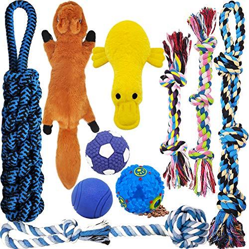 MLCINI Dog Toys Plush Dog Squeaky Toys Rope Dog Toy Dog Chew Toys Dog Toys for Medium Large Small Dogs Puppy Toys Dog…