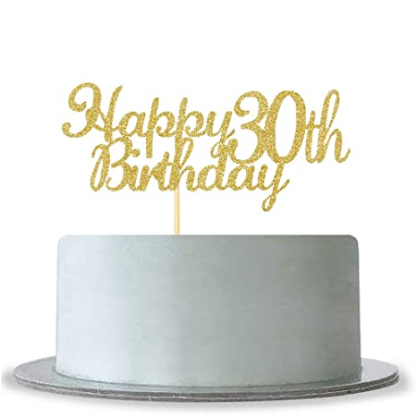 Amazon.com: Decoración para tartas de 30 cumpleaños, con ...