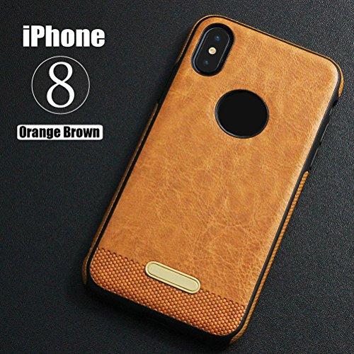UKCOCO Teléfono caso completo de protección TPU cubierta caso protector de la pantalla caída de la protección de amortiguación de choque para el iPhone X (naranja)
