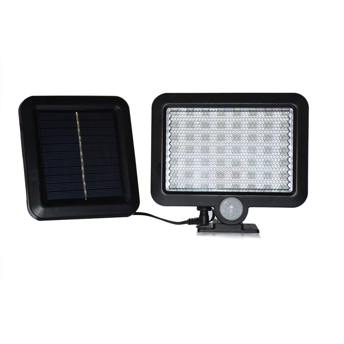 HuDieM Solar Lights, 56LEDs Waterproof Motion Sensor Light Outdoor Solar Led Security Lights with Motion Detector Night Wall Lights