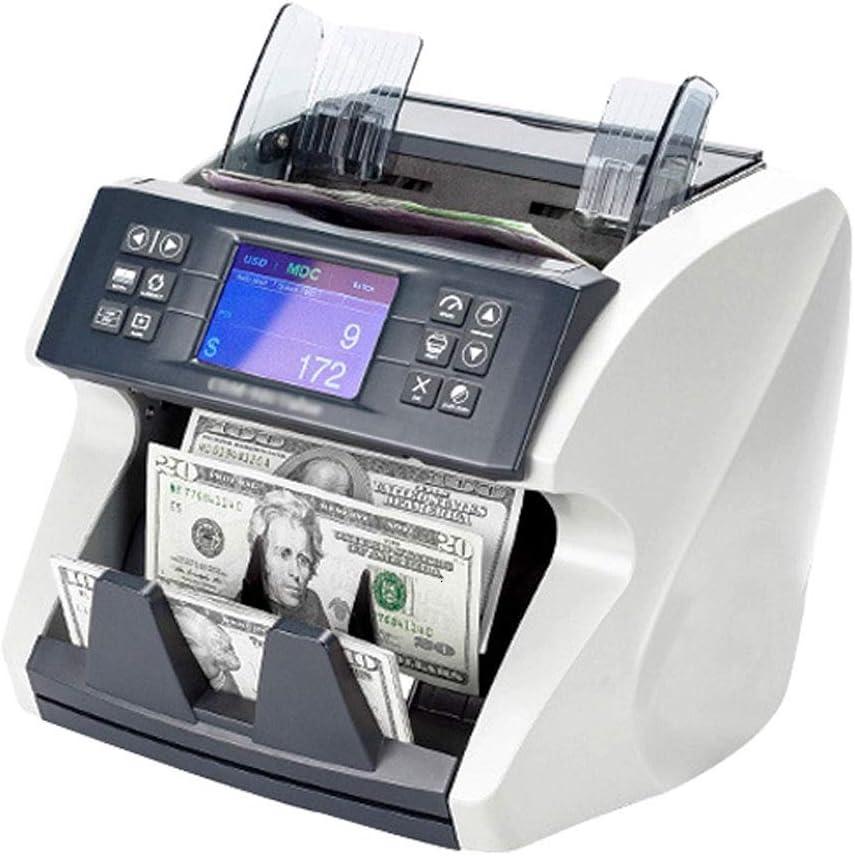 WMKEDB Automatic Detector, Detector de Dinero con recuentos de 1000 Notas/min y más, de la Caja registradora Pantalla Inteligente Bill Contador con LED Multi Moneda Falsa Valor Billetes UV máquina f: Amazon.es: