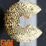 500pc Gold Plated Stardust Crimp Bead Cover 5mm BC903