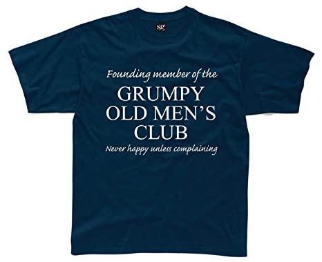 GRUMPY OLD MEN'S CLUB Mens Funny Printed T-Shirt: Amazon.co.uk ...