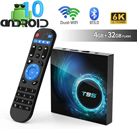 Android TV Box, TUREWELL T95 Android 10.0 Allwinner H616 Quadcore 4GB RAM 32GB ROM Mali-G31