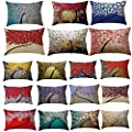 FORUU Throw Pillowcase, Rectangle Cushion Pillow Case Covers Toss Pillowcase Hidden Zipper Closure