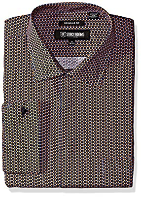 Stacy Adams Men's Big and Tall Multi Color Plaid Classic Fit Dress Shirt
