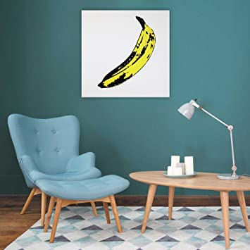 Quadro moderno tributo Andy Warhol Banana Dipinto su Tela pop art pronto da appendere Design Colorscrazy