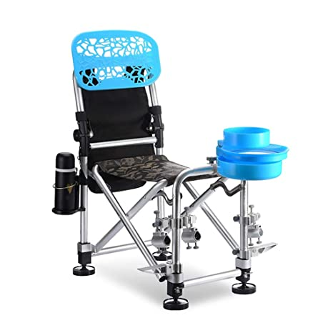 Amazon.com: Silla de pesca, silla de camping, plegable ...