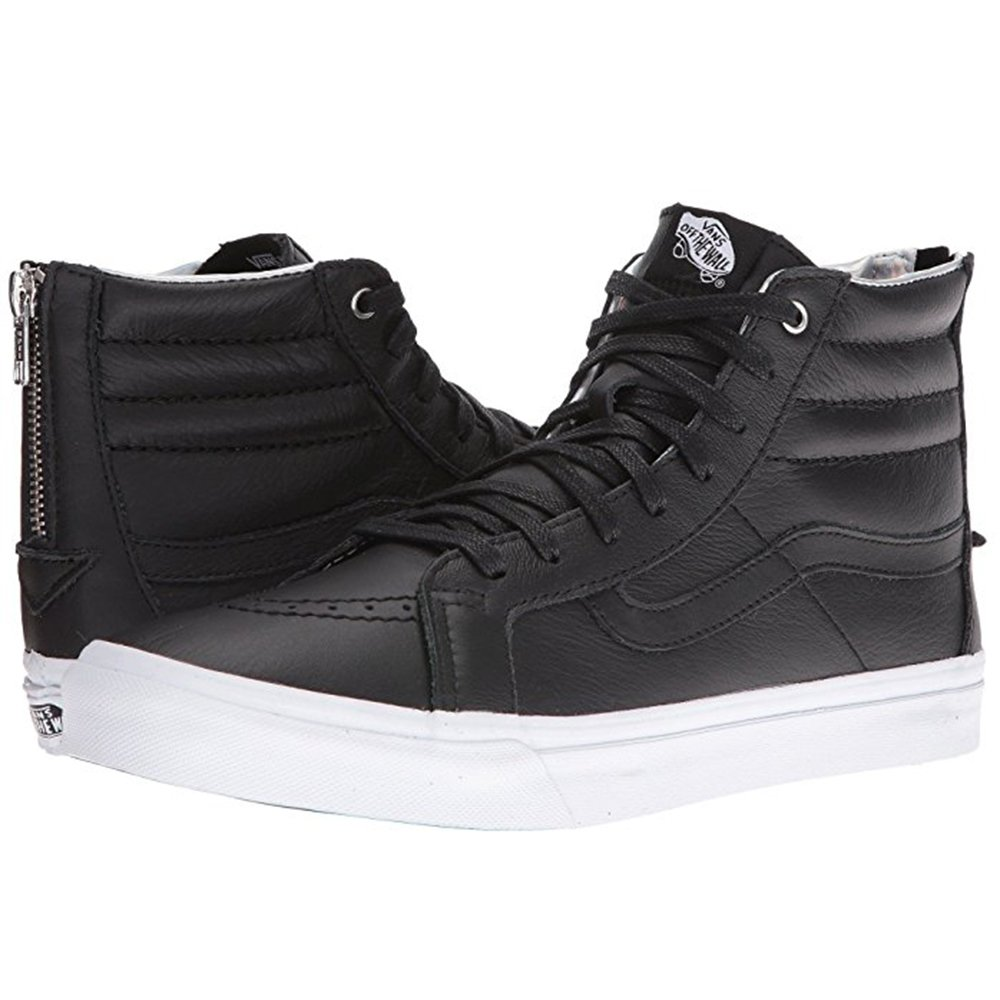 vans slip on black true white, Vans Sk8 Hi Slim Sneakers