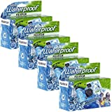 Fujifilm Quick Snap Waterproof 35mm Single Use Camera, 4 Pack (Blue/Green/White)