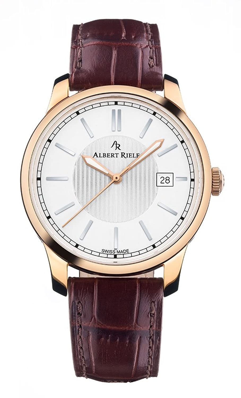 Albert Riele Herren Armbanduhr CONCERTO Analog Quarz dunkelbraunes Lederarmband 206GQ02-SP33I-LN