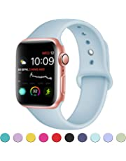 VODKER Compatible with for Apple Watch Strap 38mm 42mm 40m 44mm, Soft Silicone Sport Bands Compatible with for iWatch Series 4 3 2 1