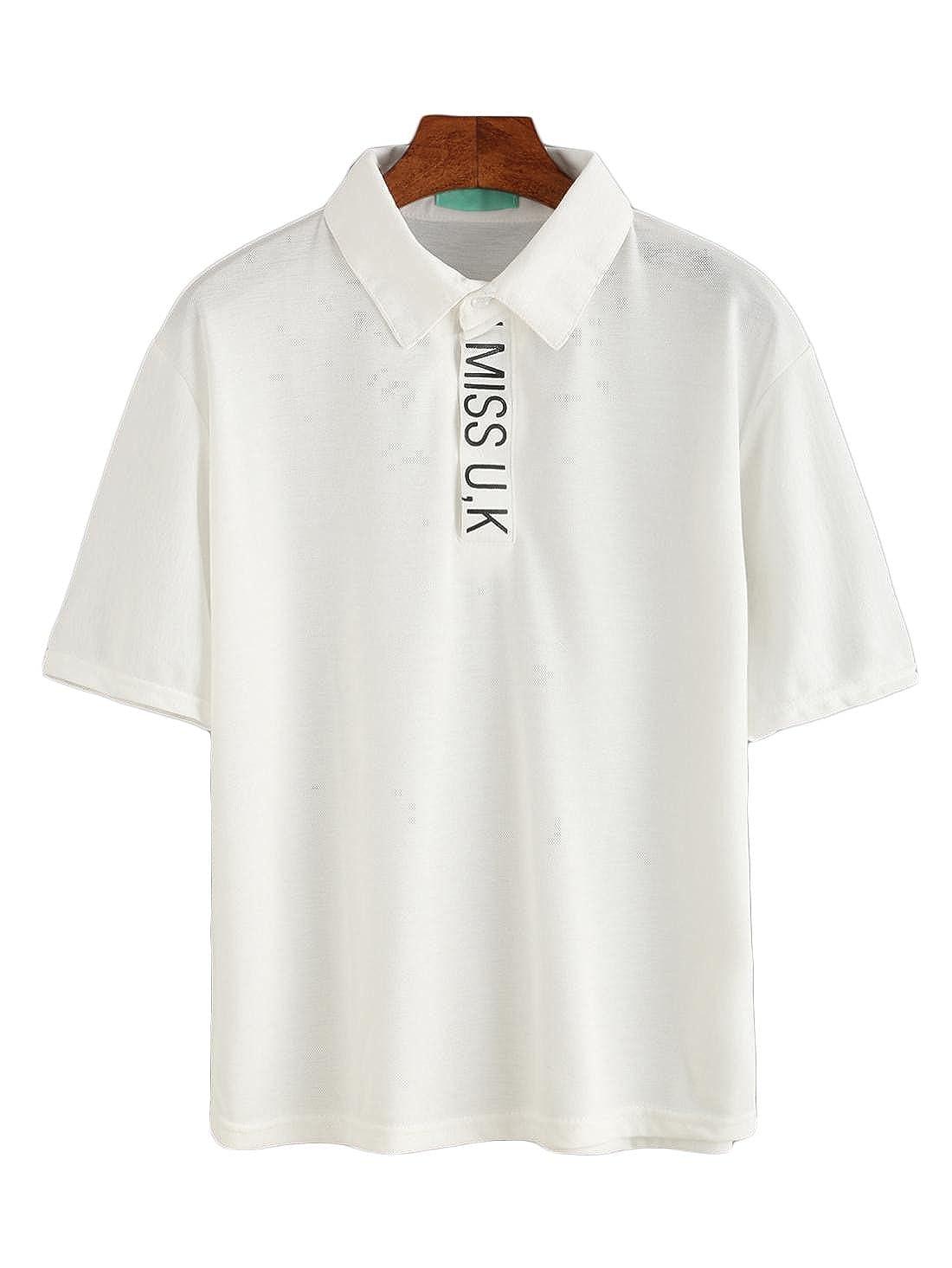 de las mujeres en letra de molde la camiseta del polo: Amazon.es ...