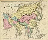 1864 School Atlas | Asia. Designed to accompany Cornell's High school geography. | Antique Vintage Map Reprint