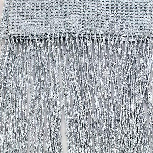 Fringe Curtain,Kisstaker Glitter Tassel String Line Door Window Curtain Room Divider Screen Decor Home Textiles Window Treatments White