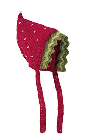 12c83caf48fa Amazon.com  San Diego Hat RED STRAWBERRY Baby Pixie Bonnet 0-6 ...