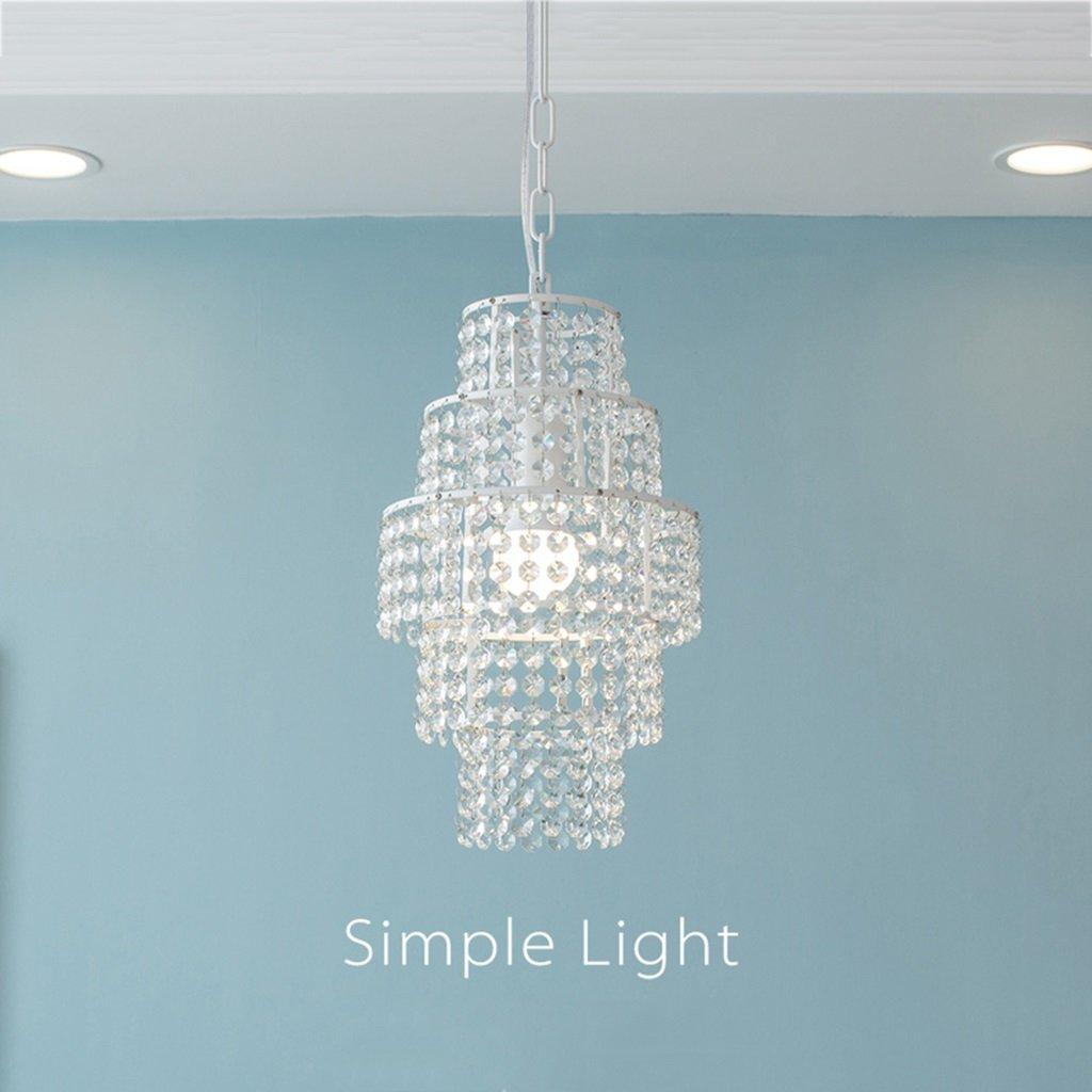 @Kronleuchter Pendelleuchte Moderne Einfache Kristall Kronleuchter E27 Wohnzimmer Schlafzimmer Balkon Ganglichter  Hängeleuchte