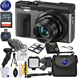 Panasonic Lumix DC-ZS70 Digital Camera (Silver) + 32GB Card + Video Accessory Bundle