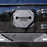 Vented Steel Grille Tire Delete Kit Cover for Jeep Wrangler JK JKU 2007-2017