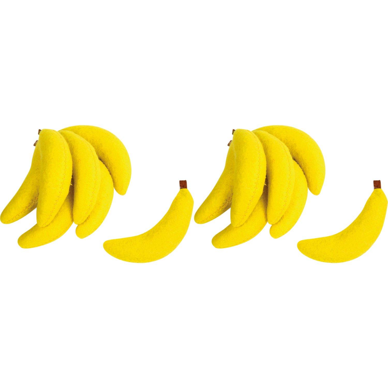 gelb Small Foot Design 4419 Filz-Bananen 2 x 7er Pack /Ø 2 cm x 7,5 cm f/ür Kaufl/äden