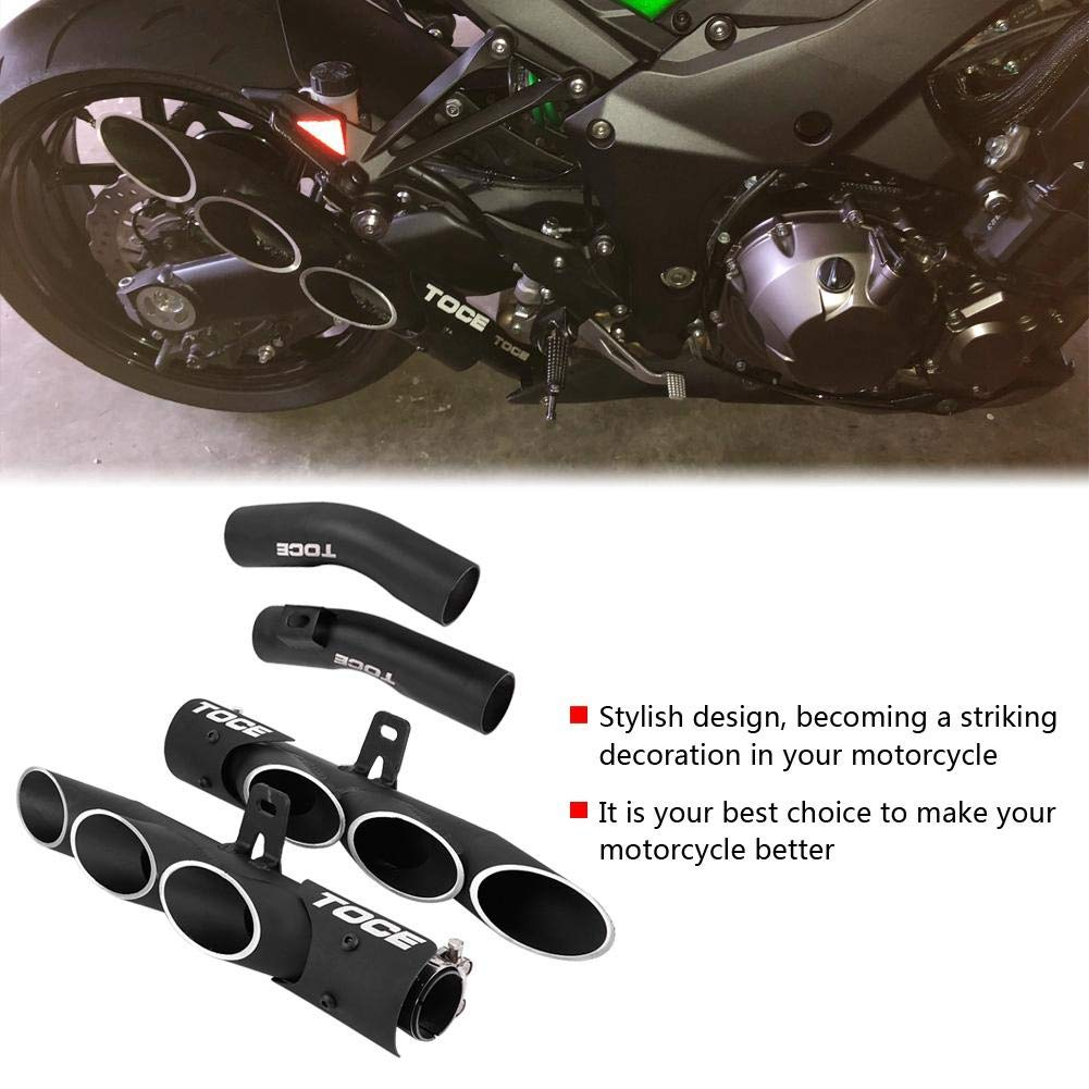 Aramox Motorcycle Slip on Exhaust Muffler Middle Pipe Link Connect for Kawasaki Z1000 2010-2016