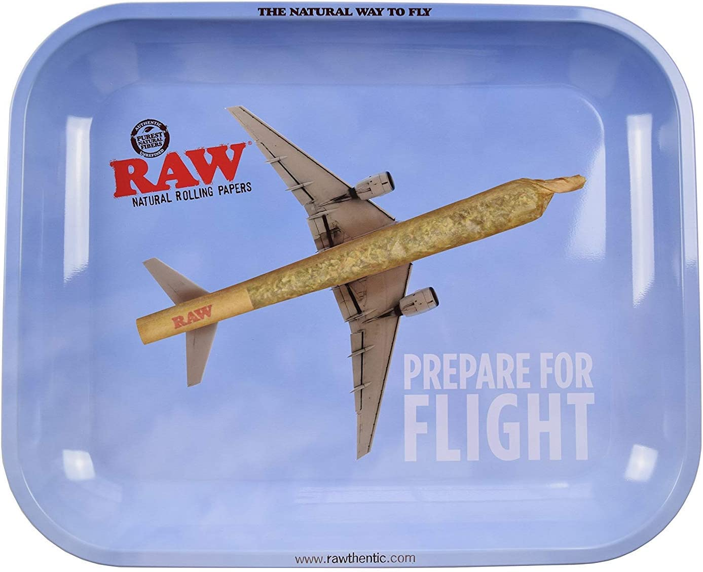 RAW Prepare for Fight - Bandeja de metal para liar cigarrillos (34 x 28 cm)