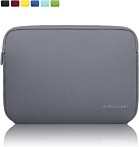 AULEEP 13-14 Inch Laptop Sleeves, Neoprene Notebook Computer Pocket Tablet Carrying Sleeve/Water-Resistant Compatible Laptop Sleeve for Acer/Asus/Dell/Lenovo/HP, Gray