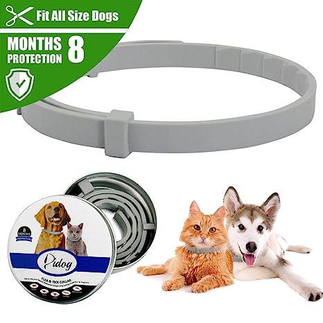 TYESHA Collar antipulgas y garrapatas para Perros, Mascotas Eliminar pulgas Mosquitos Collar Protector de Pet