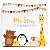 LovelySprouts First Year Baby Memory Book & Baby Journal (3 Color Styles Available). Perfect For Boys Or Girls Baby Shower Gift. First 5 Years Scrapbook, Keepsake & Photo Journal. Unisex, Little Animals
