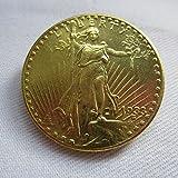 1933 USA $20 Gold-Plated Saint Gaudens Twenty Dollars or Double Eagle Coins COPY