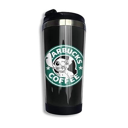 21abe3be506 Amazon.com: KGOISG Lilo and Stitch Starbucks Coffee Logo Coffee Cup ...