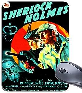 Sherlock Holmes Póster de las aventuras de alfombrilla de ratón. Película alfombrilla de ratón