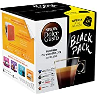 NESCAFE DOLCE GUSTO 48 Espresso & Lungo Coffee PODS Capsules Variety Pack