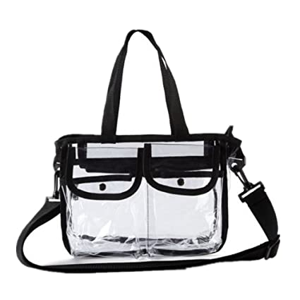 1a615ae40673 Image Unavailable. Image not available for. Color  GOGO NFL Stadium  Approved Clear Security Toe Bag Crossbody Messenger Shoulder Bag w Strap