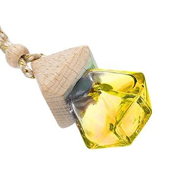 LEEDY - Ambientador Colgante para el hogar o el Coche, difusor de Fragancia, Botella de Cristal vacía, Adornos Colgantes de Bolas, Amarillo, Multi-Colored: ...