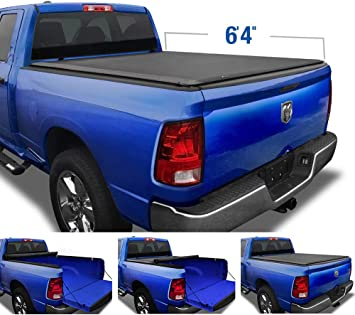 Amazon Com Tyger Auto Tg Bc1d9014 T1 Soft Roll Up Truck Tonneau Cover For 2002 2018 Dodge Ram 1500 2019 2020 1500 Classic 2003 2018 2500 3500 Fleetside 6 4 Bed Without Rambox Black Automotive