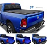 Tyger Auto TG-BC1D9014 T1 Soft Roll Up Truck Tonneau Cover for 2002-2018 Dodge Ram 1500; 2019-2020 1500 Classic; 2003…
