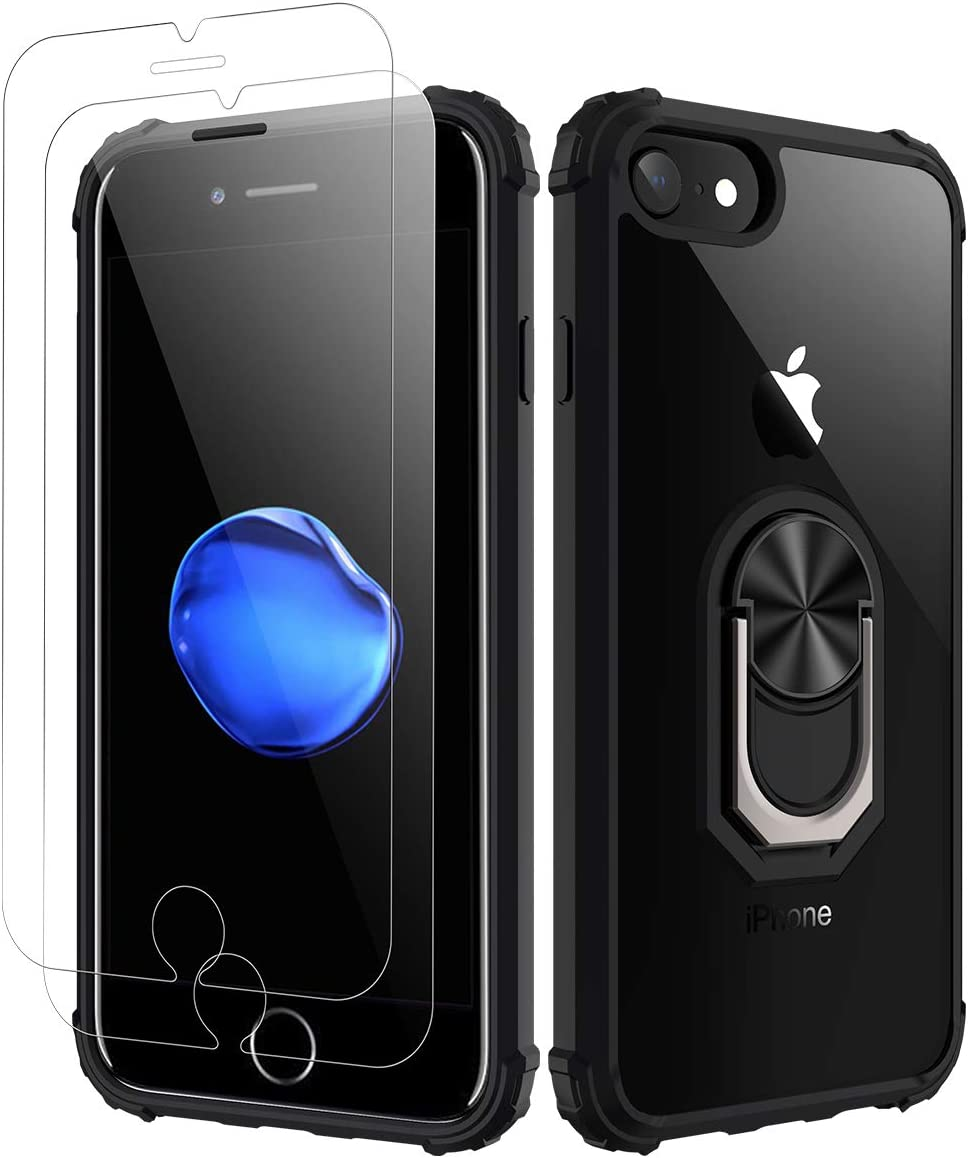 iPhone 7 Case | iPhone 8 Case [ Military Grade ] 15ft. Drop Tested Protective Case | Kickstand | Compatible with Apple iPhone 8 / iPhone 7 -Black