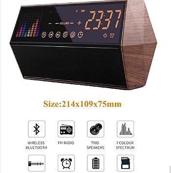 HLMF Pantalla táctil LED Reloj Digital con Altavoz/Radio Regalo electrónico Retro decoración casera Reloj de Mesa cabecera Iluminado Reloj,A: Amazon.es: ...