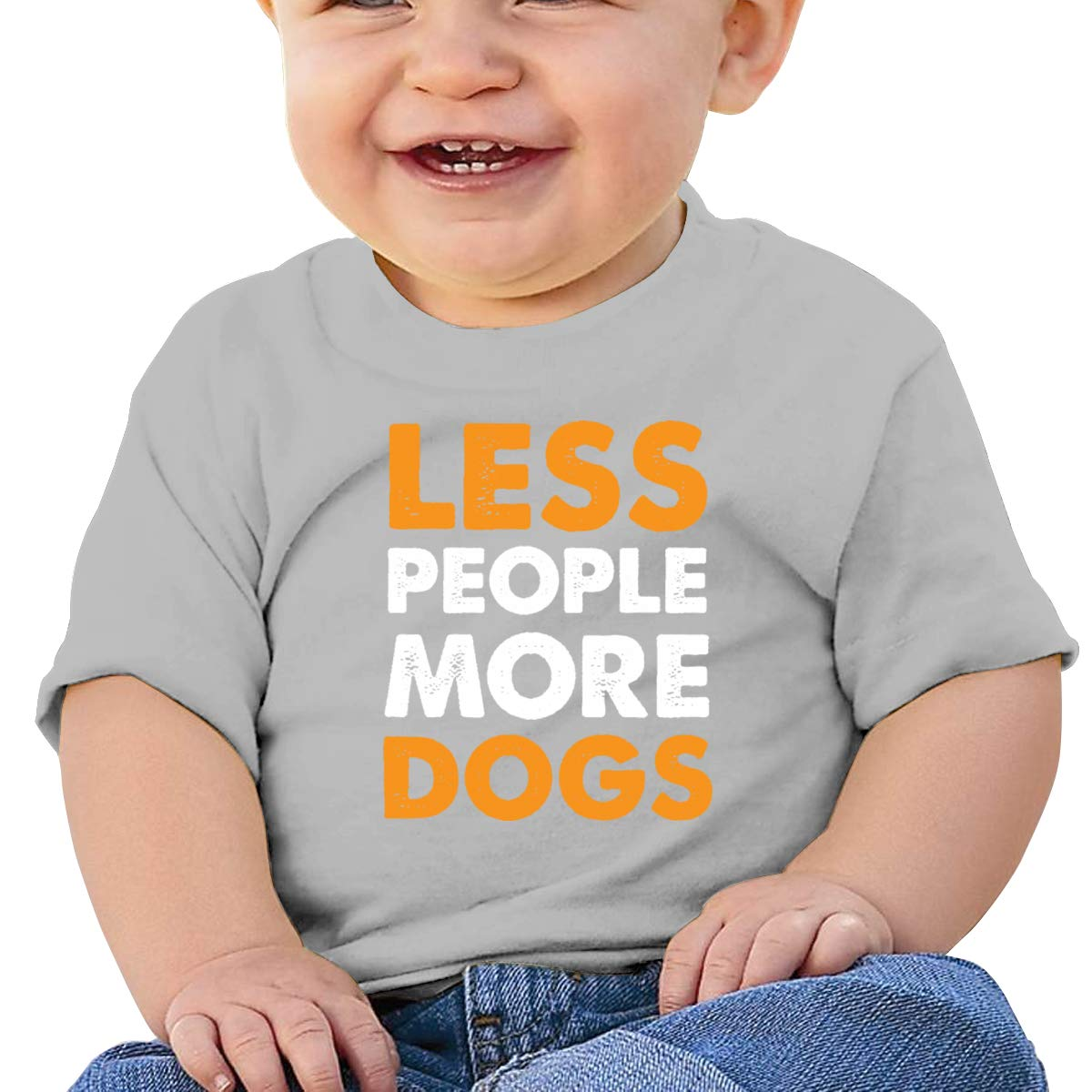 Arsmt Less People More Dogs Infan Short Sleeve T-Shirts Boys Birthday Gift