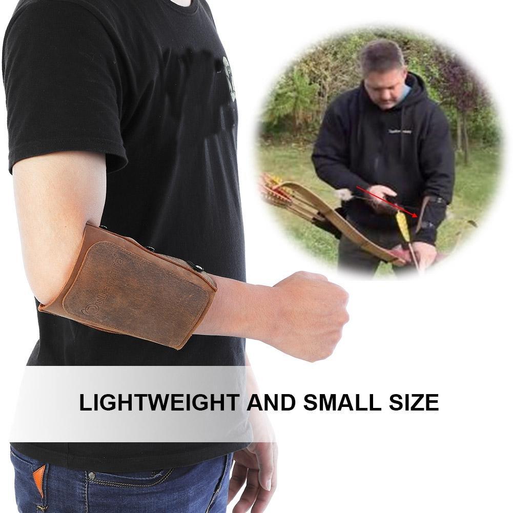 Dilwe Archery Arm Guard Verstellbarer Lederarmschutz Bow Armband Protective Gear f/ür Jagdschie/ßen