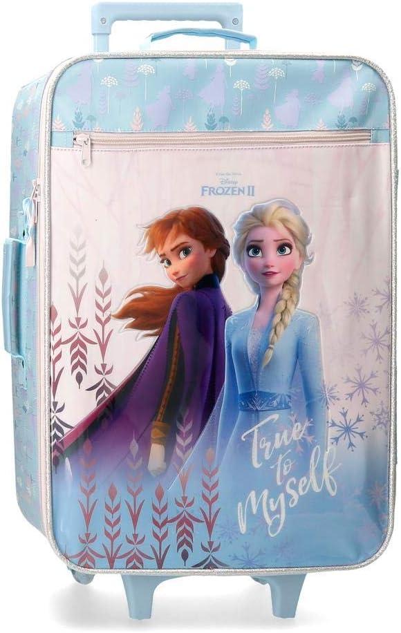 Disney Frozen True to Myself - Maleta de cabina, 50 cm, Azul