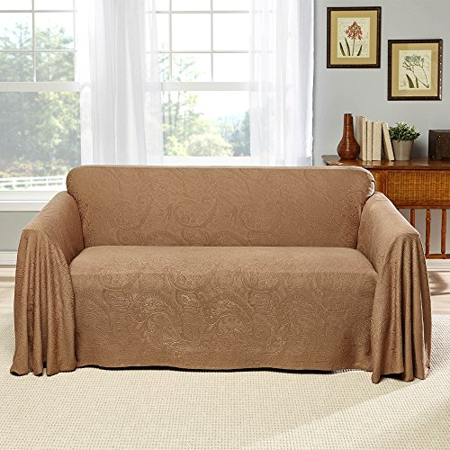Details about Stylemaster Alexandria Matelasse Large Sofa Furniture Throw,  Chocolate New