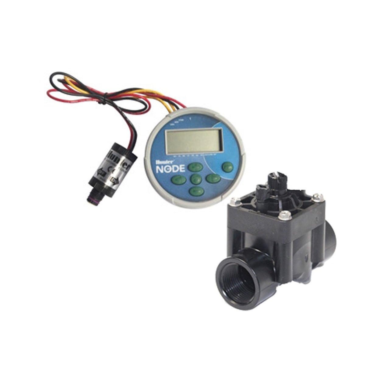 Hunter Sprinkler NODE100VALVE NODE Single Station Controller with DC Latching Solenoid and PGV-101G valve by Hunter (Image #1)
