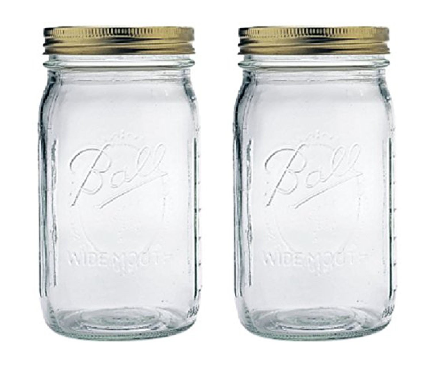 32 oz wide mouth mason jars - Amazon Com 1 Ball Mason Jar Wide Mouth 32 Oz Quart With Lid And Band Clear Kitchen Dining