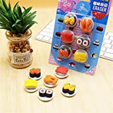 Kawaii Cute food Japanese Sushi Shape toys stationery erasers for kids School student kids gift for items school students supplies animal lot (3Box/set)