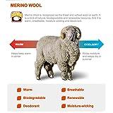 Wool Skiing Socks, ZEALWOOD Merino Wool Backpacking
