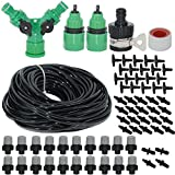 Misting Cooling System For Outdoor Patio Garden Greenhouse Reptile Mosquito Prevent - 82FT with 20 Pack of Plastic Mist Nozzles