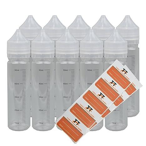 10 x 60 ml lápiz botellas O. Unicorn Bottle con escala con ...