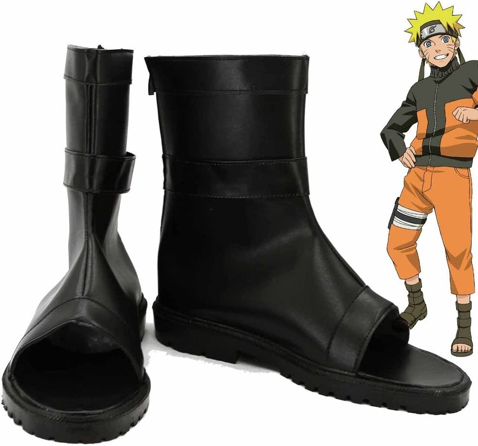 Amazon.com: Naruto Anime Uzumaki Naruto Ninja Cosplay Shoes ...
